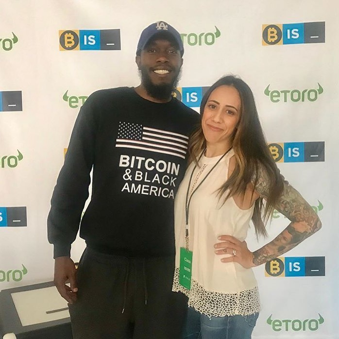 CryptoWendyO at the Bitcoinis_ event