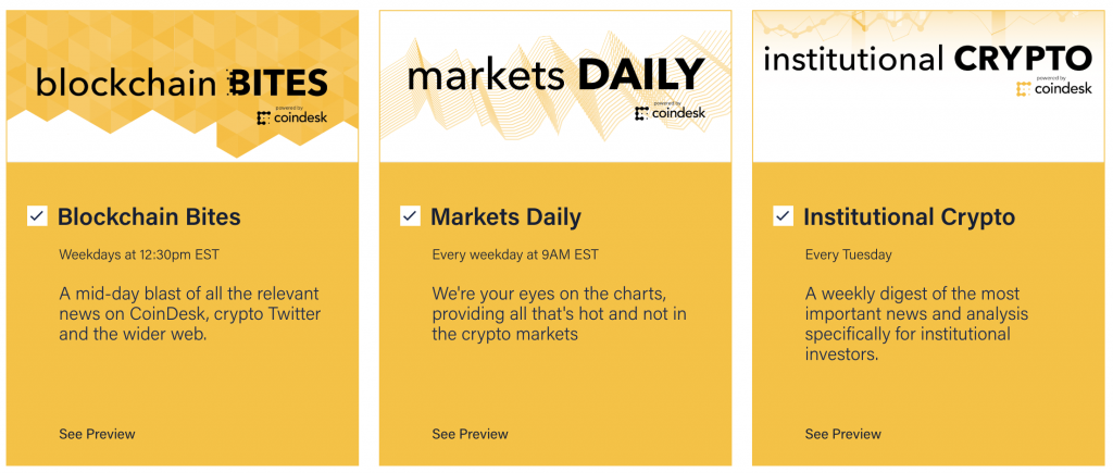 CoinDesk Newsletters