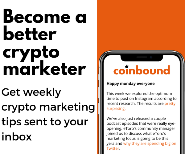 Coinbound Newsletter Banner Ad